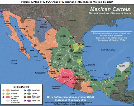 mexican cartel map Google Search – Map to Mexico
