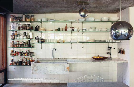 Open kitchen plan.