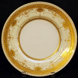 gold plates by Minton