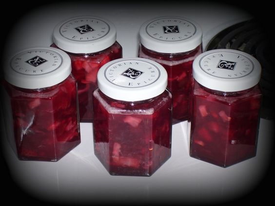Homemade strawberry rhubarb jam