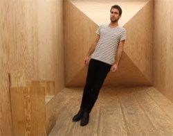 """Hill of the devil"" illusion that the room is totally ignored the rule of gravity"
