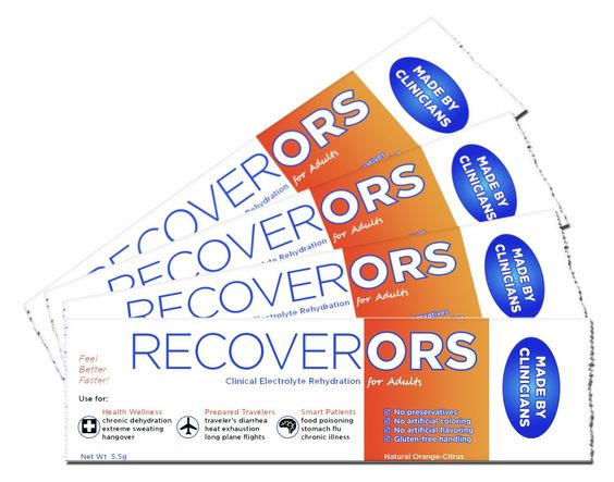 Amazon.com: RecoverORS Adult Clinical Rehydration Powder for Food Poisoning, Hangovers, Diarrhea: Health & Personal Care