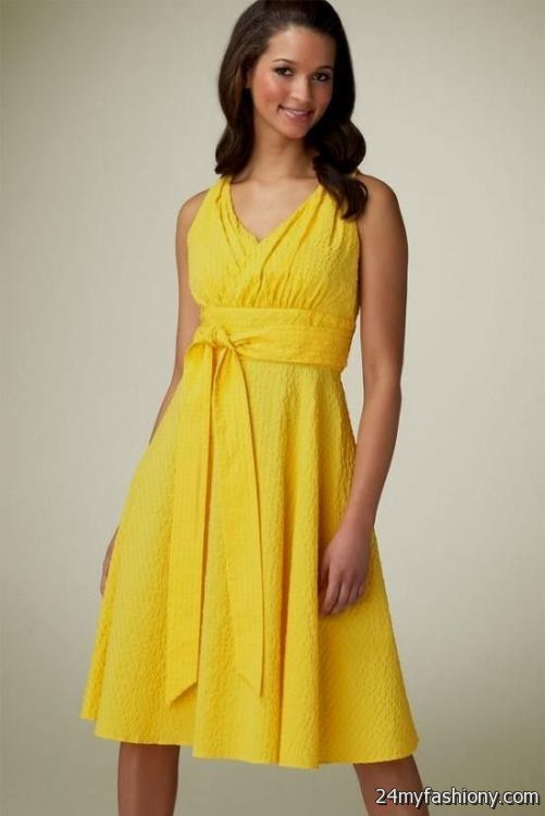 Yellow summer dresses for weddings 2016 2017 b2b fashion for Yellow dresses for weddings