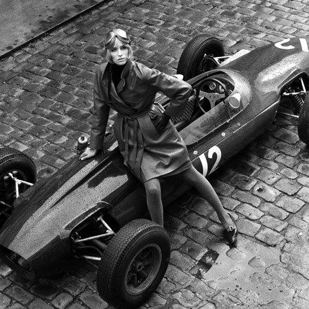 Jill Kennington, Lotus Formula One, photo Patrick Lichfield, Londres 1964 - See more at: http://leblogdesovena.com/driving-back-in-time/#sthash.NgSdgWHl.dpuf