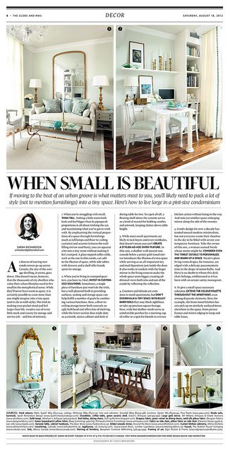 "The Globe and Mail ""When Small is Beautiful"" via Flickr"
