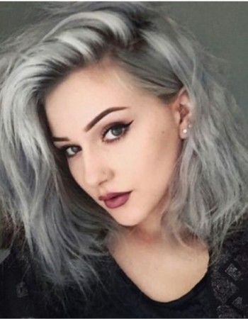 Couleur cheveux tie and dye gris