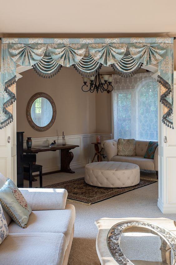 Paris Salon Swag Valances Curtains Glacial Swan Living Room Decor Curtains Elegant Curtains Curtain Styles #swag #valance #for #living #room