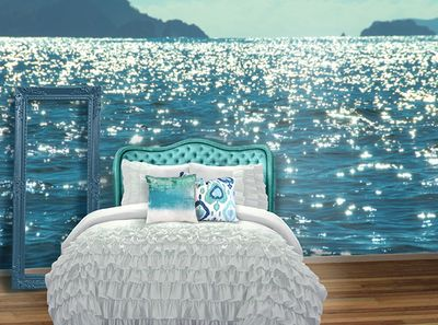 """""""Island Shimmer"""". Nostalgia Mural Collections - Back to the Wall How cool is this? I love it!"""