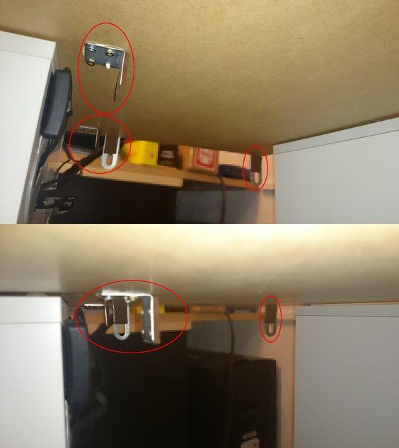 Matériel : – ALEX, Meuble de rangement, blanc (601.928.26) – ALEX, Caisson à tiroirs, blanc (101.928.24) – LINMON, Plateau blanc (202.511.39) – Roulettes Description : Rien de très fou, mais j'avais besoin d'un bureau très compact et transportable facilement. J'ai donc assemblé 3 meubles Ikéa sur lequel j'ai ajouté des roues de chez Leroy Merlin. Voici le projet en 3D et les meubles montés. L'avantage de mon petit bureau mobile, c'est que j'ai juste 1 prise électrique et un câble réseau à…