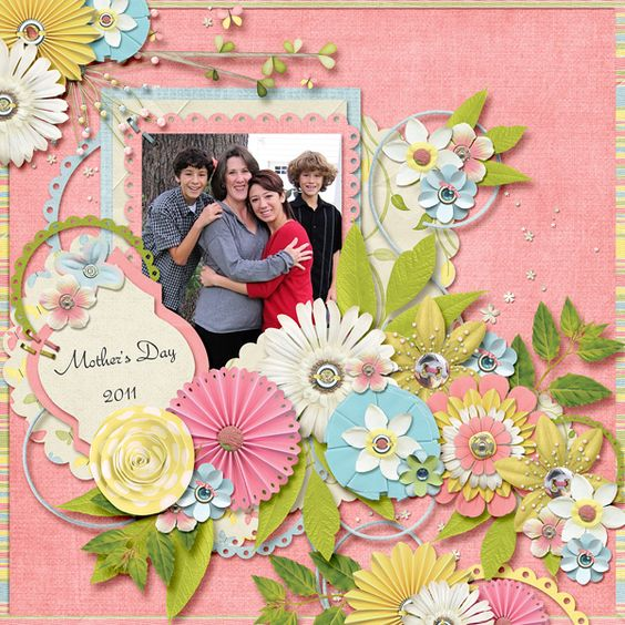 Mother's Day 2011 | Wendy Tunison Designs: Just Us April, Temptations Vol 2 & Me and My Shadow