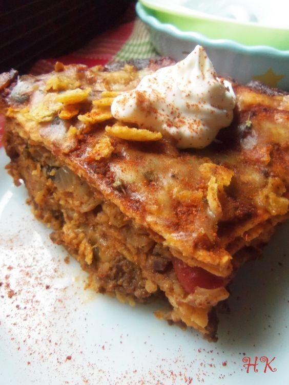 Beef Enchilada Casserole HispanicKitchen.com