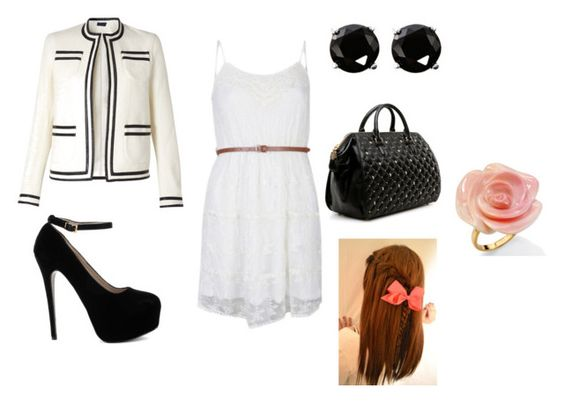 """""""school idea #1"""" by carol-joy-tapales ❤ liked on Polyvore featuring NOVA, Meadham Kirchhoff, Coast, Thomas Wylde, women's clothing, women, female, woman, misses and juniors"""