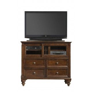 A America Cherry Solid Wood Media Chest at Big Sandy