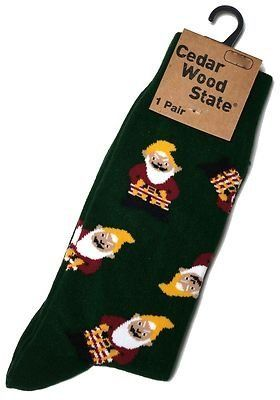 Mens Garden Gnome Elf Novelty Socks Ideal Gardeners Gift UK Size 9