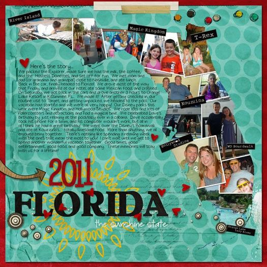 Florida 2011 - Two Peas in a Bucket | Want to do this for our Texas trip - a great way to use up extra photos!