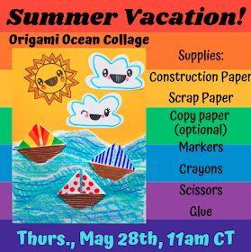 Cassie Stephens: Origami Ocean Collage!