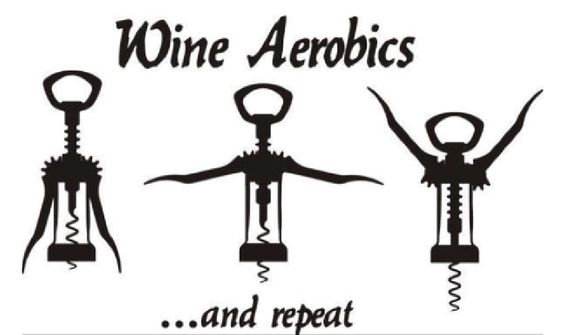 """/""""Aerobics for Wine Lovers/"""" Retro Style Sign"""