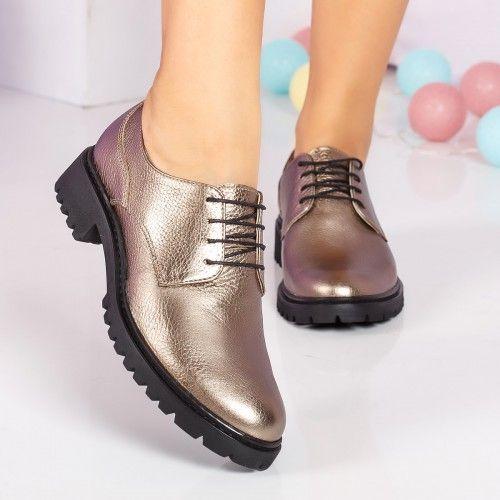 imagini detaliate intra online Ordin 34% #Reduceri Pantofi dama Piele Corina aurii casual | Shoes ...