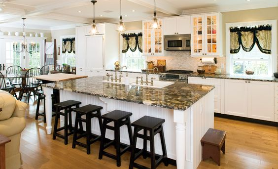 Who wants to transform their kitchen into this? #kitchen #countertop #dining