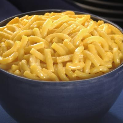For creamier (box type) macaroni and cheese, substitute evaporated milk for the milk.