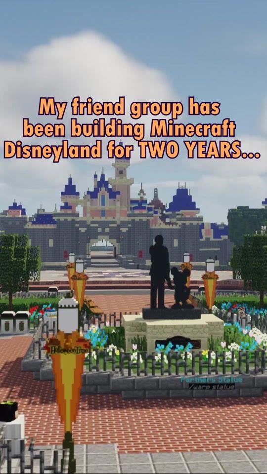 Disneyland Hashtag Videos On Tiktok In 2021 Amazing Minecraft Minecraft Blueprints Minecraft Designs