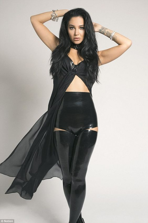 Strike a pose: Tulisa Contostavlos has posed for a new fashion shoot for Notion Magazine