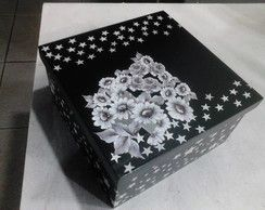 Caixa Presente Preta e Branca