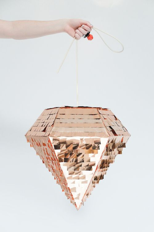Pinatas aren't just for kids any more. We are obsessed with this copper diamond from Prospect Goods.: