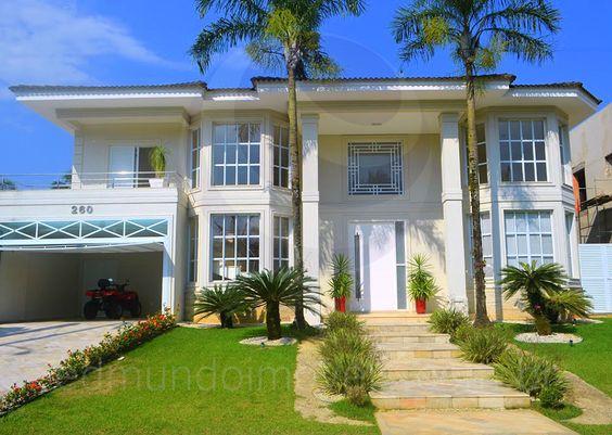Com fachada em estilo neocl ssico americano e acabamentos - Casas estilo americano ...