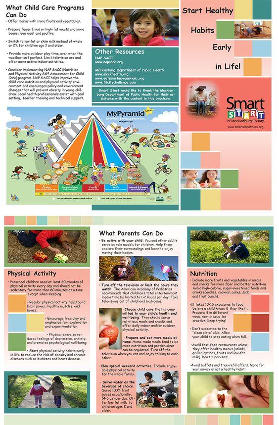 Design \ layout on childrenu0027s nutrition brochure for Smart Start - sample preschool brochure