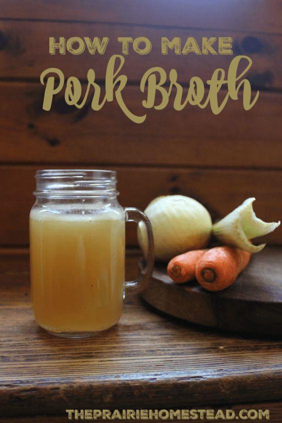 How to Make Pork Broth   Pork, Beef Broth and Beef