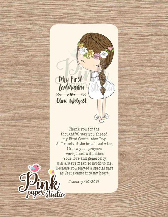 Un favorito personal de mi tienda Etsy https://www.etsy.com/es/listing/494105919/primera-comunion-favor-tarjetas-marcador