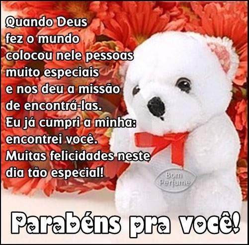 www.parabens pra voce | Mensagem parabéns pra você: Quando Deus fez o mundo colocou nele ...
