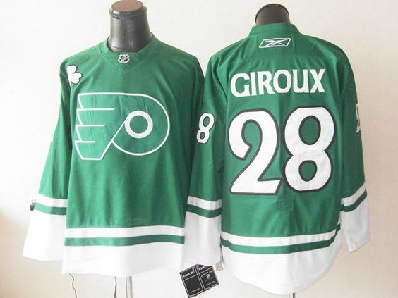 c51d4f373 Flyers St Pattys Day 35 Sergei Bobrovsky Green Stitched NHL Jersey  Philadelphia Flyers 28 Claude GIROUX St. Pattys Day Jersey ...