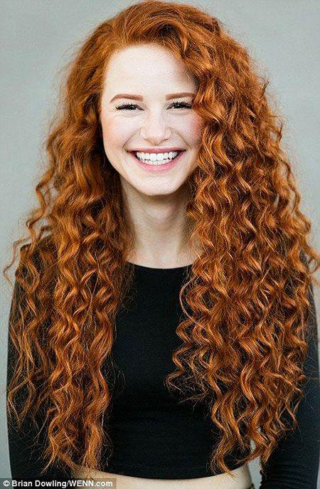 30 Lange Lockige Rote Frisuren Punaiset Hiukset Hiukset Kauneus