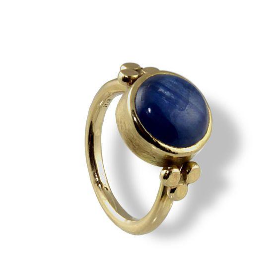 Bold Gold Ring, Kyanite gemstone, Yellow Gold Ring, Stone Engagement Ring, Stones Ring, Unique Gold Ring, Blue Stone, Alternative by EttyJewelry on Etsy https://www.etsy.com/listing/204535465/bold-gold-ring-kyanite-gemstone-yellow
