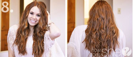Natural looking beach curls how to