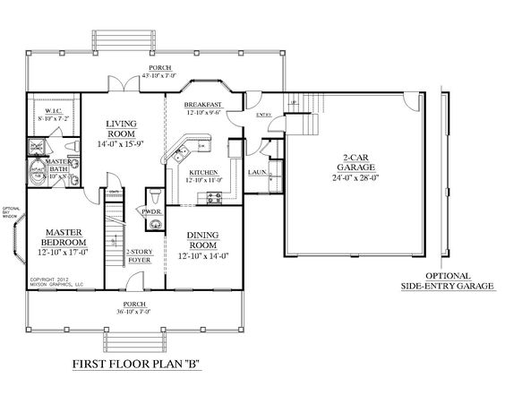 House plan 2109 b mayfield b first floor plan colonial cottage 1 1 2 story design with 3 car garage with master bedroom above