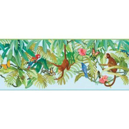 Up In The Treetops Sb7708bd Wallpaper Border Wall Sticker Outlet Wallstickeroutlet Yorkwallcovering Tropical Wallpaper Wallpaper Border York Wallpaper
