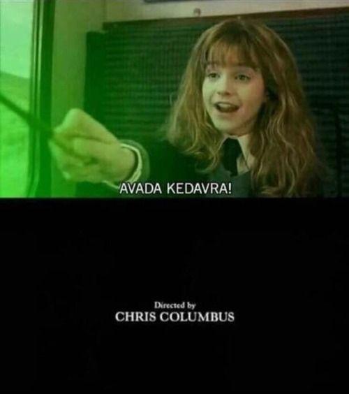 Hermione Avada Kedavra Tumblr Harry Potter Voldemort Harry Potter Funny Harry Potter Memes
