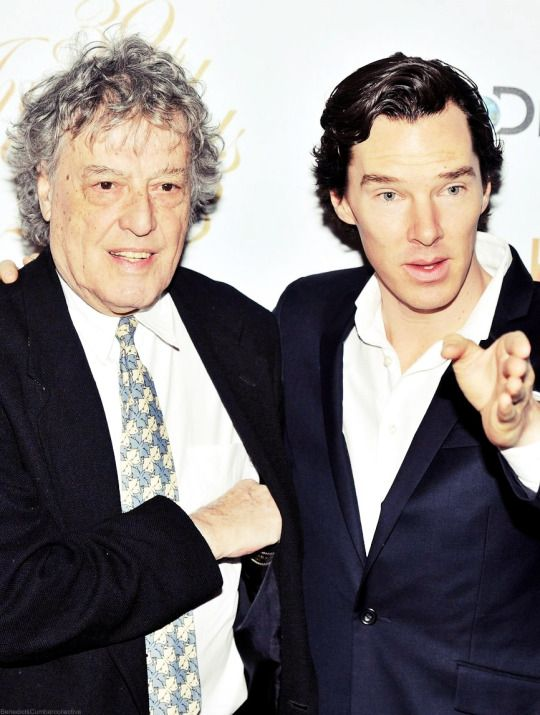 Benedict Cumberbatch with Tom Stoppard at the BPG Awards