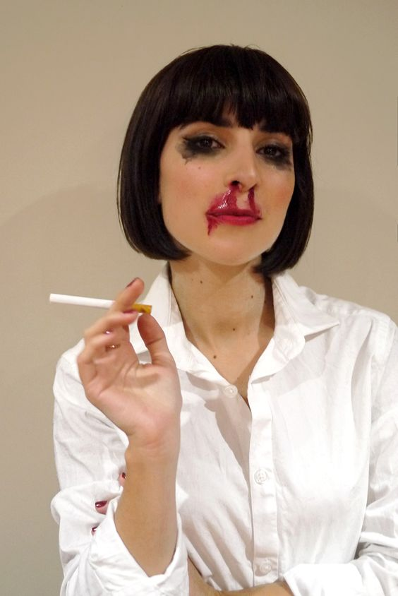 My mia wallace costume for halloween night d guisement - Deguisement pulp fiction ...