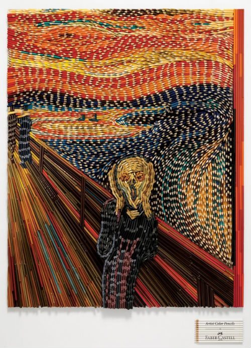 The Scream Colored Pencils And Pencil On Pinterest