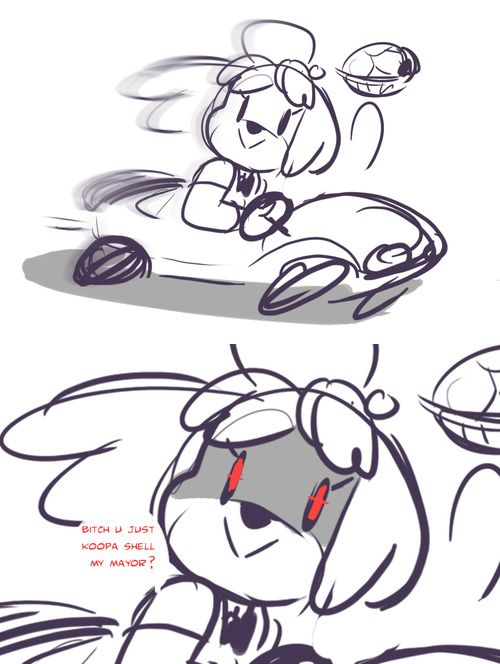 I'm super excited Isabelle is gonna be in Mario Kart, Luigi better watch himself.
