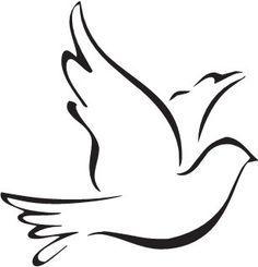 Holy spirit dove clipart black and white - photo#28