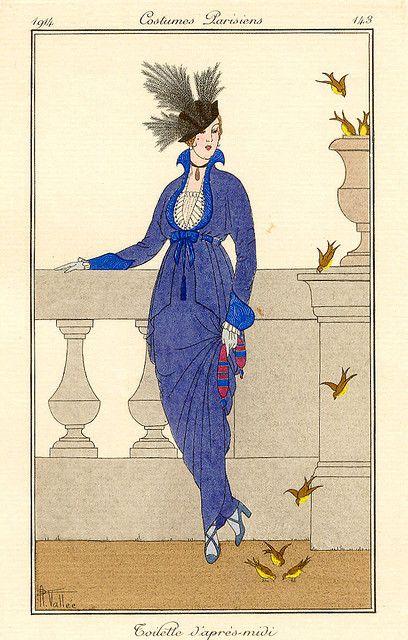 Armand Vallée, Journal des Dames et des Modes, Toilette d'Après-Midi, 1914 by Gatochy, via Flickr