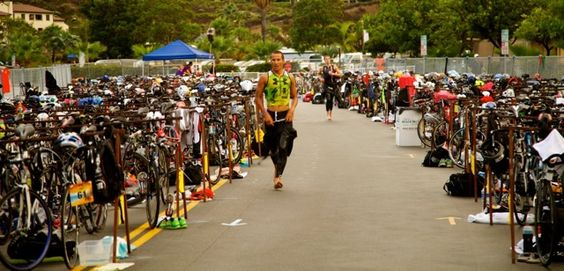 Chris McCormack blazing through transition at Newport Beach Triathlon 2012