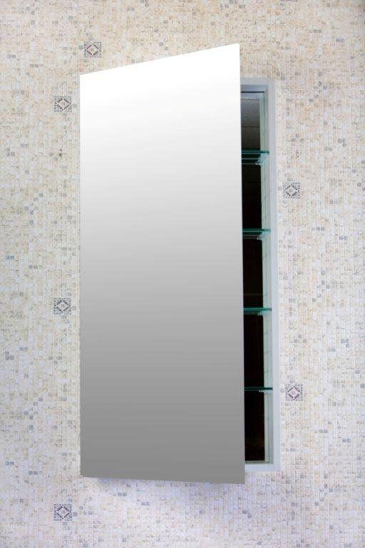 Surface Mount Or Recessed Frameless 1 Door Medicine Cabinet