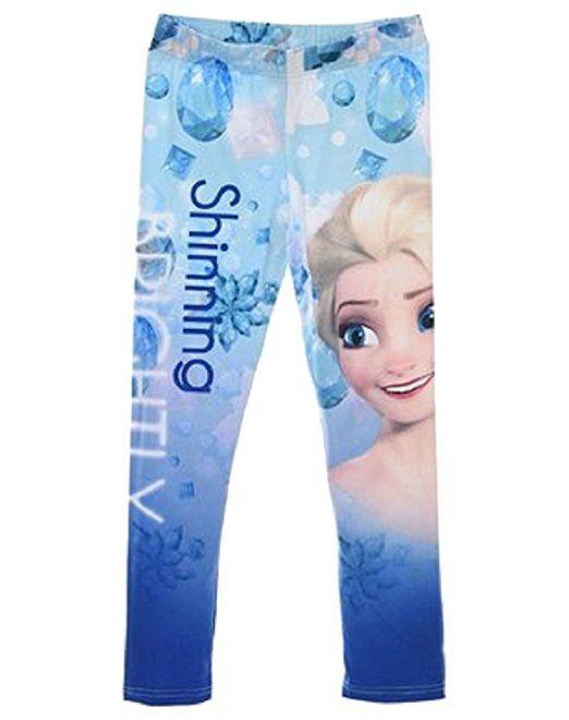 Disney Frozen Die Eiskönigin 3//4 Leggings Kinder Mädchen Hose Leggins Kinderhose