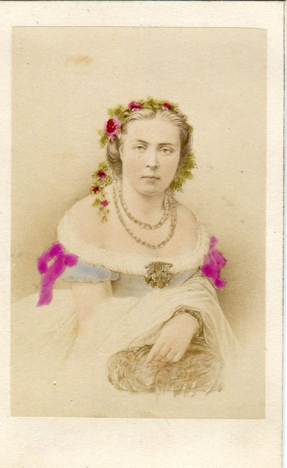 Princess Marie of Prussia Saxe Weimer Eisenach CDV Circa 1860 Neurden Royalty   eBay